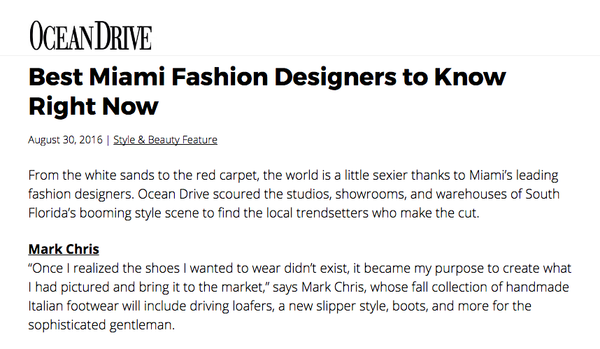 Ocean Drive : Best Miami Fashion Designers to Know Right Now