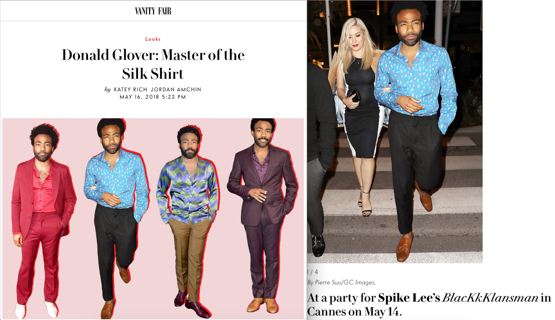 Vanity Fair Features Donald Glover Wearing Mark Chris