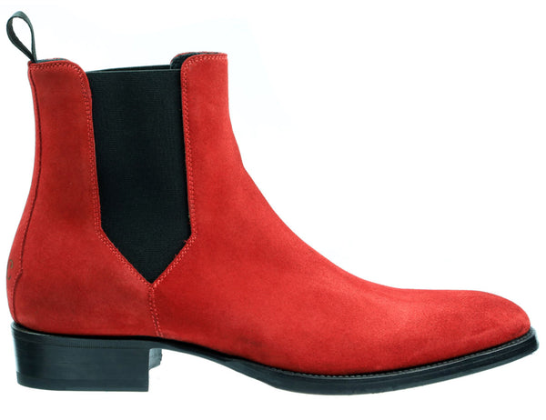 Uptown Red Suede Chelsea Boot
