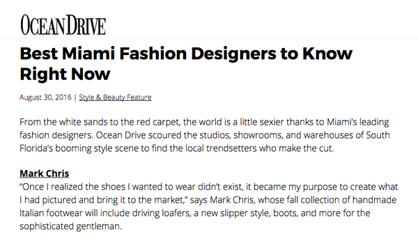Ocean Drive Magazine Fashion
