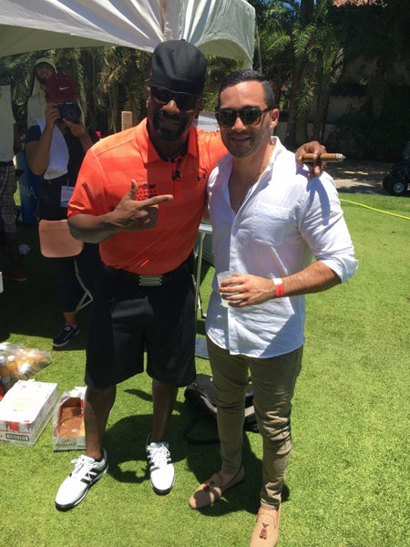 Mark Chris with DJ Irie at the 2016 DJ Irie Weekend in Miami, FL.