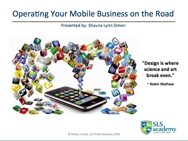 Operating Your Mobile Business on the Road...Effectively