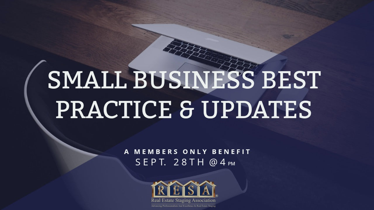 Small Business Best Practice and Updates - Sept 2017