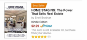 HOME STAGING THE POWER THAT SELLS REAL ESTATE book