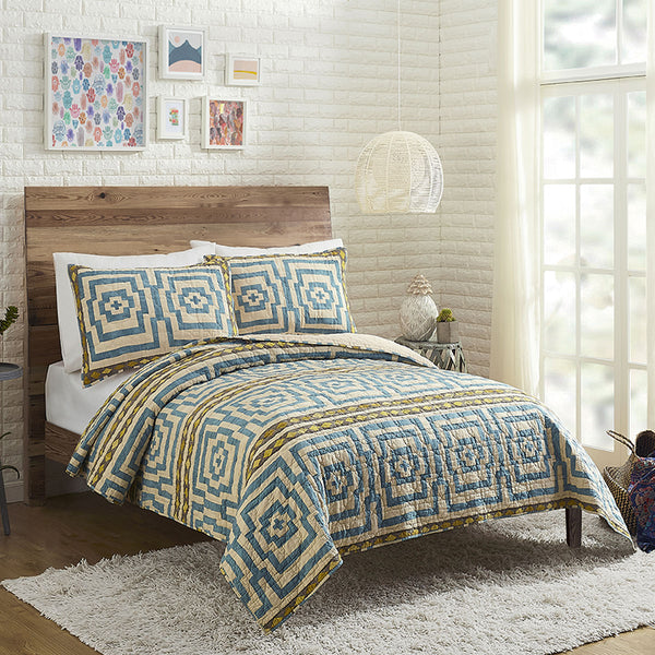 Sky Blue Hypnotic Quilt Set by Justina Blakeney®
