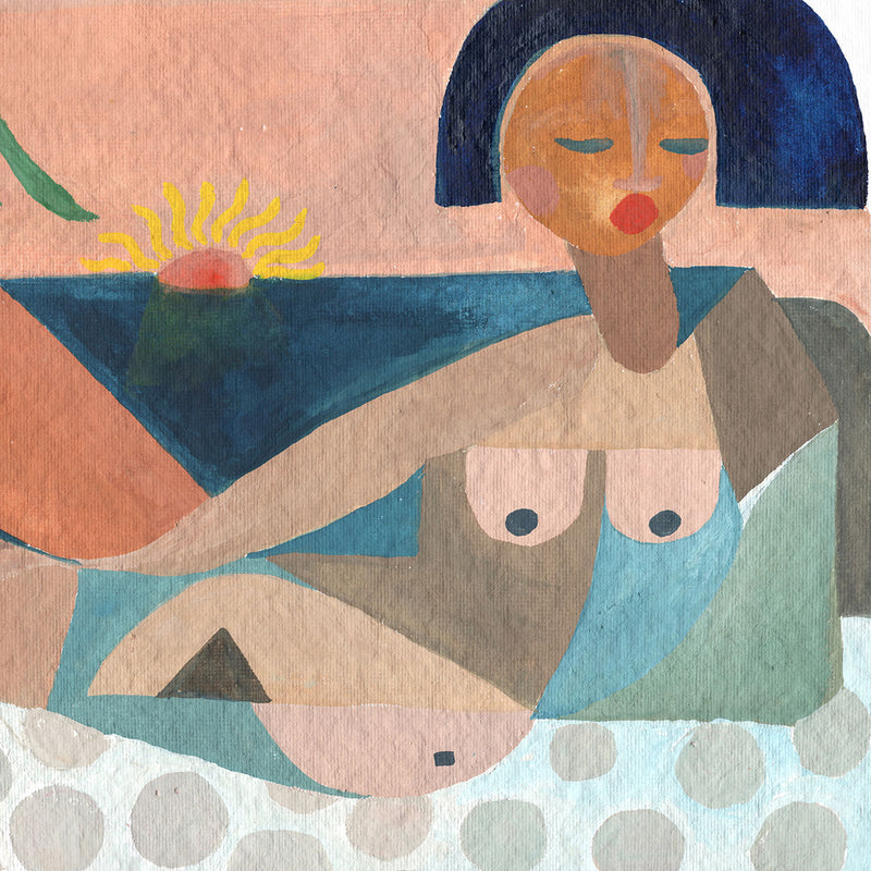 Nude Beach At Sunset Art Print by Justina Blakeney® Jungalow Exclusive