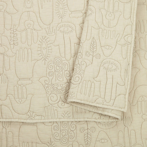 Natural Hamsa Quilt Set by Justina Blakeney®