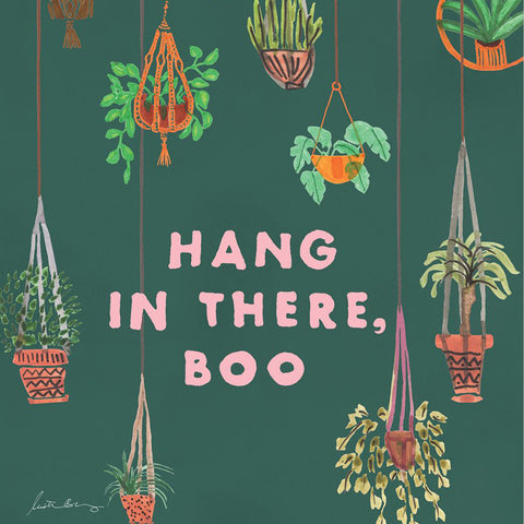 Hang In There Boo Art Print by Justina Blakeney® - Jungalow