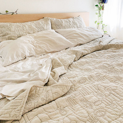 Natural Hamsa Quilt Set by Justina Blakeney®, www.jungalow.com