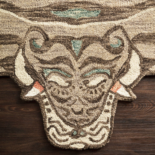 Feroz Berry Tiger Rug by Justina Blakeney® X Loloi