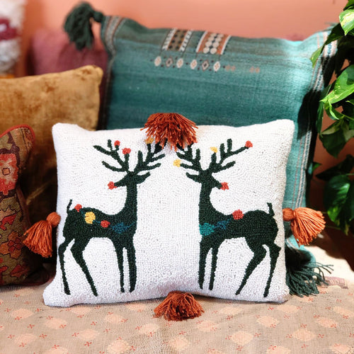 Reindeer Games Hook Pillow by Justina Blakeney®