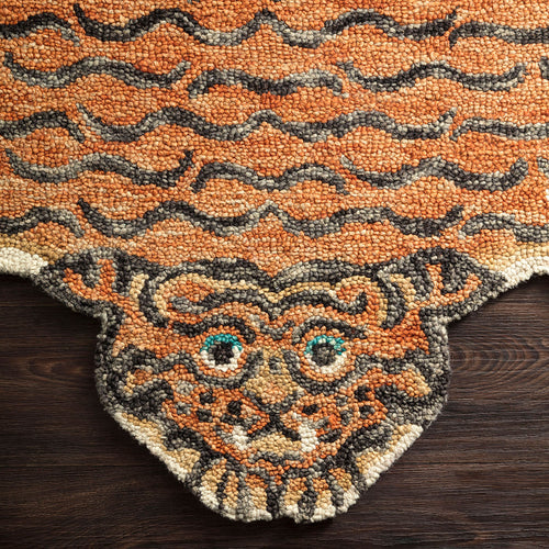 Chubby Tangerine Tiger Rug by Justina Blakeney® X Loloi
