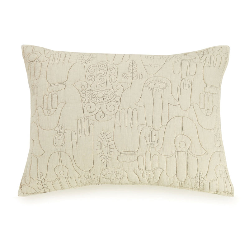 Natural Hamsa Pillow Sham by Justina Blakeney® now available at Jungalow®