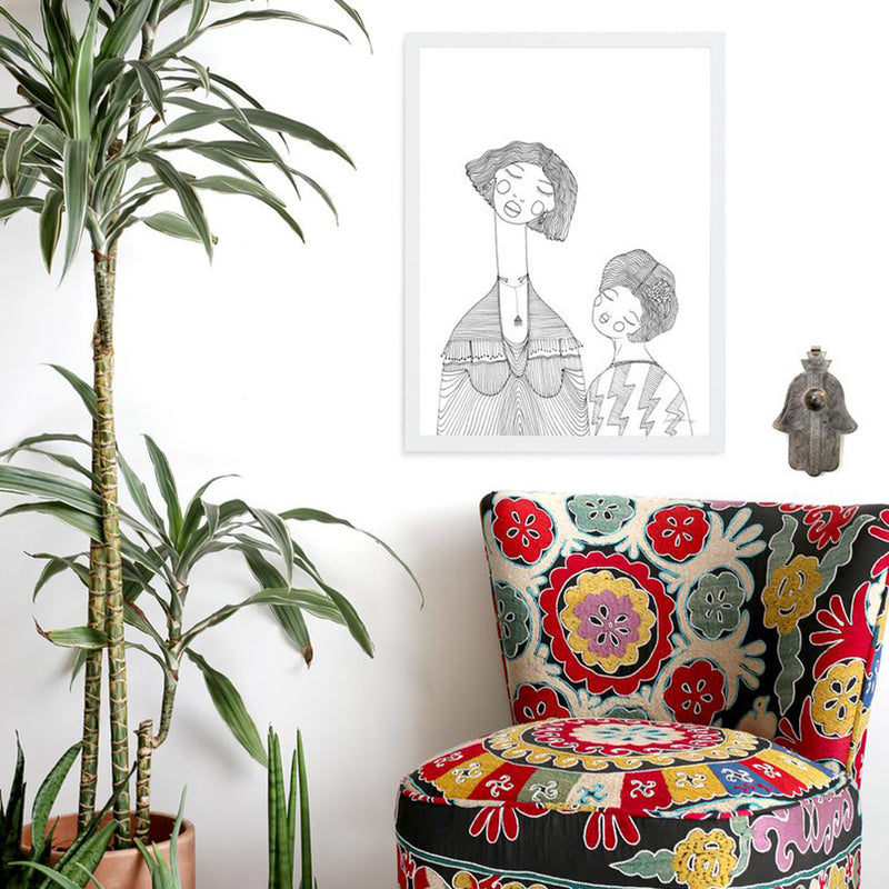 Mama & Me Art Print by Justina Blakeney® now available at Jungalow®