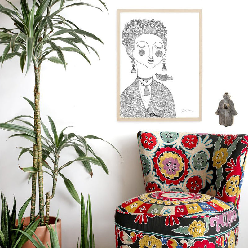 Tan Framed Agatha Art Print by Justina Blakeney® by Jungalow