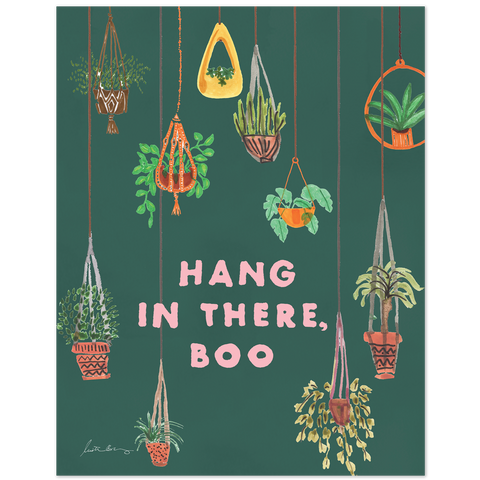 Hang In There Boo Art Print by Justina Blakeney®