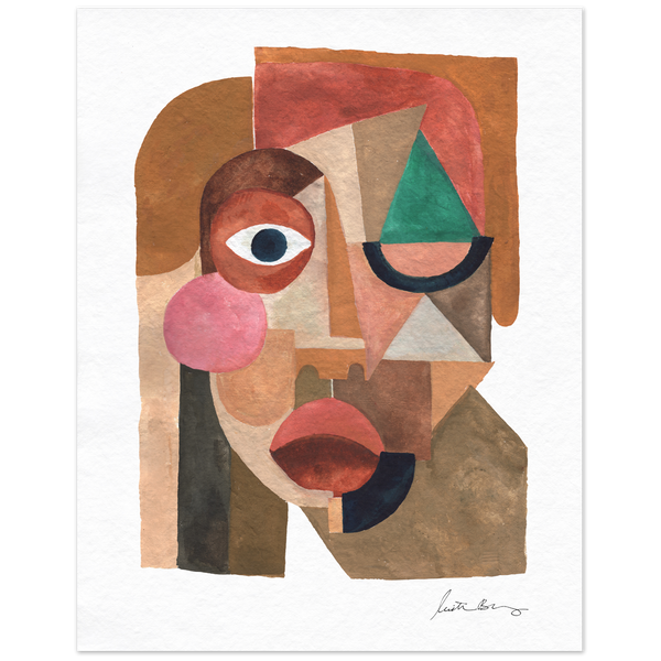 Face 1 Art Print by Justina Blakeney® - Jungalow