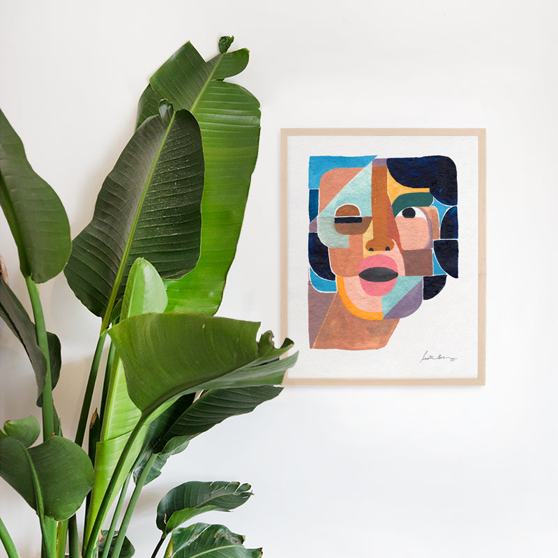 Face 4 Wall Art Print by Justina Blakeney® - Jungalow