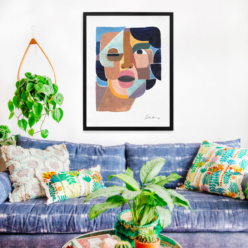 Framed Face 4 Art Print by Justina Blakeney®