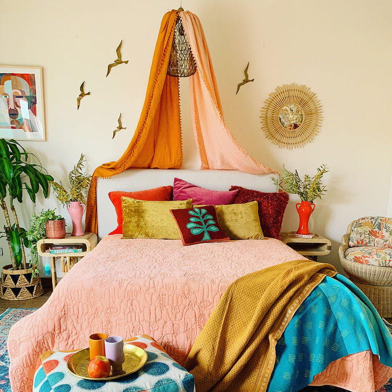 Peach Hamsa Quilt Set by Jungalow®