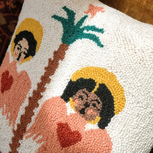 Angels Sing Hook Pillow designed by Justina Blakeney® now at Jungalow®