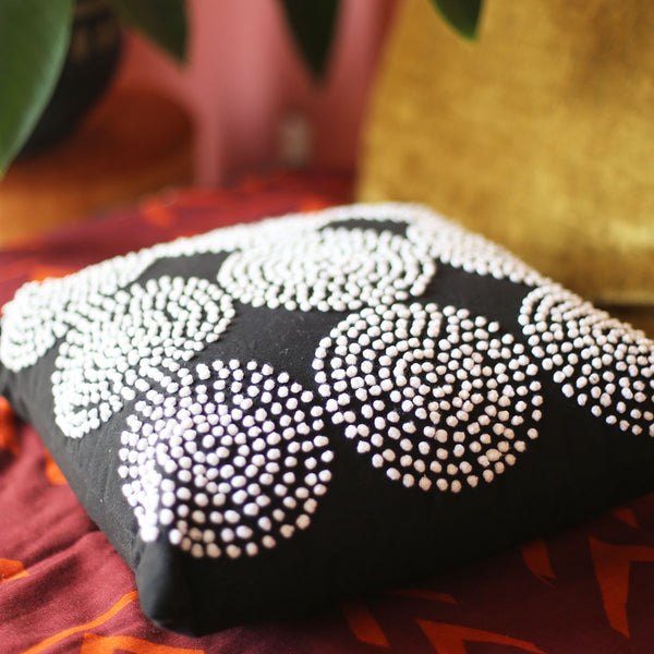 Night Cosmos Square Pillow by Justina Blakeney®