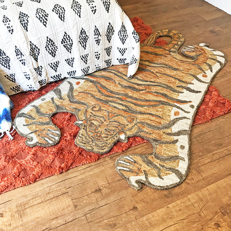 Feroz Gold Tiger Rug designed by Justina Blakeney® for Loloi Rugs available at Jungalow®