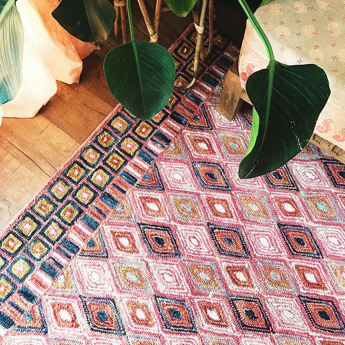 Priti Pink Sunset Rug by Justina Blakeney® X Loloi