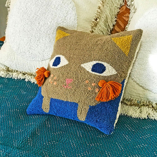 Kitteh Hook Pillow by Justina Blakeney® now at Jungalow®