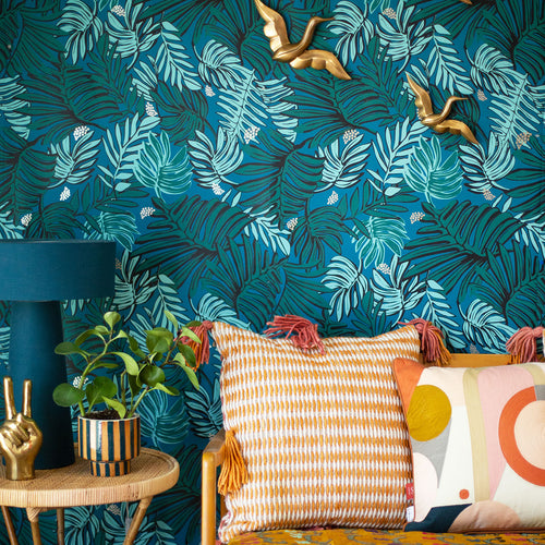 Aja Wallpaper in Teal by Justina Blakeney®