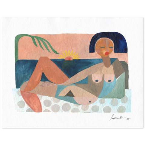 Nude Beach At Sunset Art Print by Justina Blakeney® - Jungalow