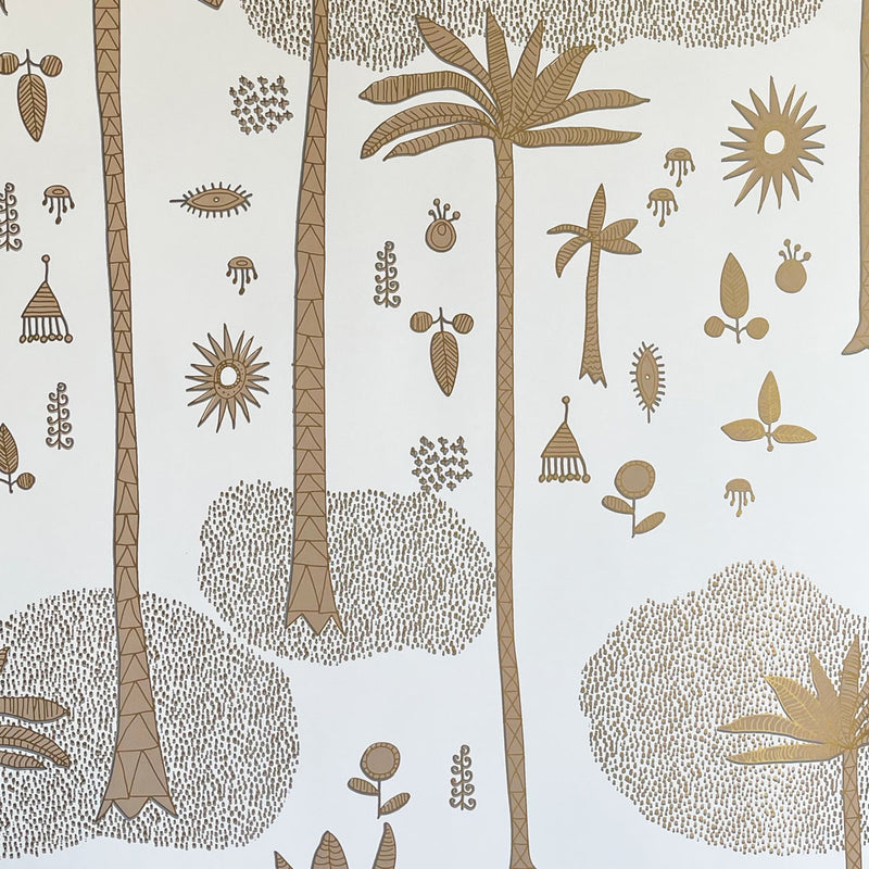 Cosmic Desert Wallpaper in Gold by Justina Blakeney® - Paste The Sheet