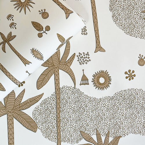 Cosmic Desert Wallpaper in Gold by Justina Blakeney® - Sure Strip