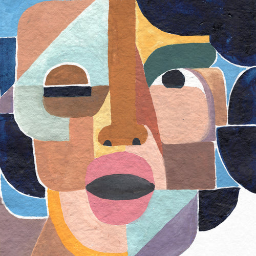 Face 4 Art Print by Justina Blakeney® - Jungalow