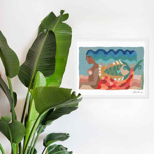 In the Waves Art Print by Justina Blakeney®