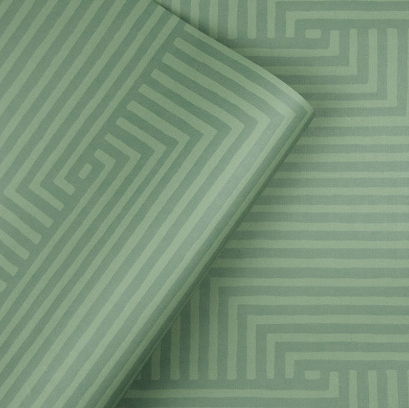 Sample of Into You Wallpaper in Sage designed by Justina Blakeney® | Jungalow®