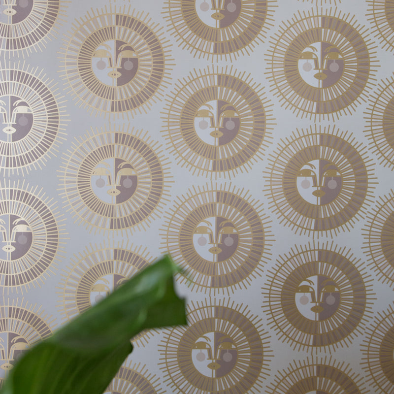 Ayo Wallpaper in Gold by Justina Blakeney® exclusively at Jungalow®