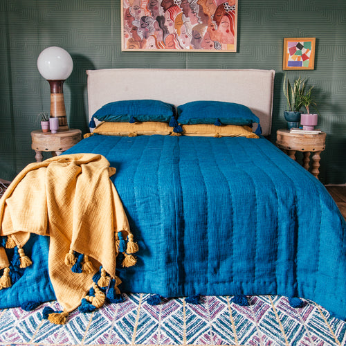Quilt in Deep Ocean by Like A Lion®