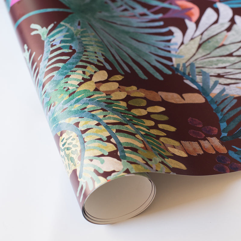 Phoenix Wallpaper in Vino by Justina Blakeney®