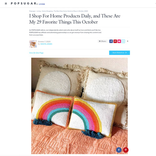 Rain Bow Hook Pillow Set by Jungalow®