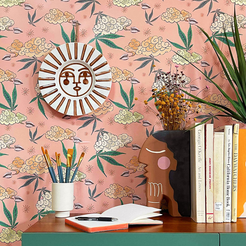 Peel + Stick Ganjalow Wallpaper in Pink by Justina Blakeney®