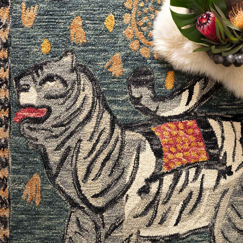 Tigress Teal Rug by Justina Blakeney® X Loloi