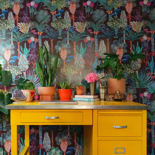 Phoenix Wallpaper in Vino by Justina Blakeney® | Jungalow®