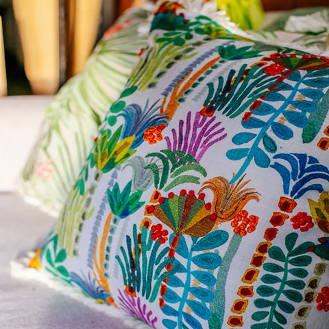Palm Tree Fringe Pillow by Justina Blakeney® - Jungalow