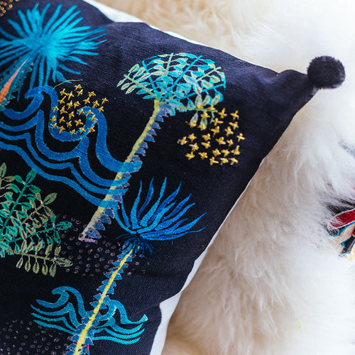 Playa Noche Pom Pom Pillow by Justina Blakeney® - Jungalow
