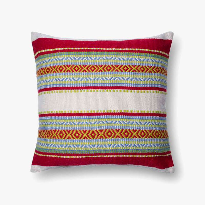 Striped Outdoor Pillow 2