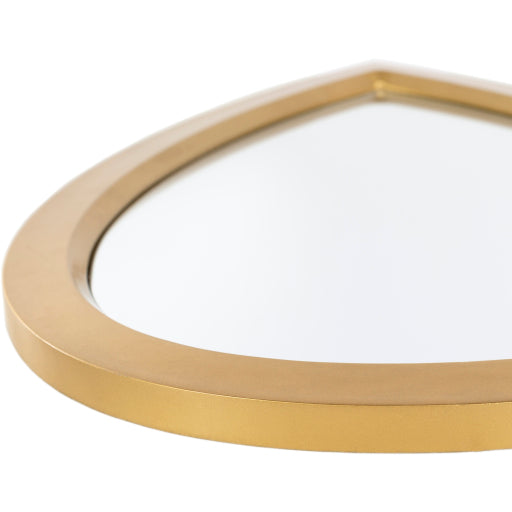 Teardrop Gold Mirror