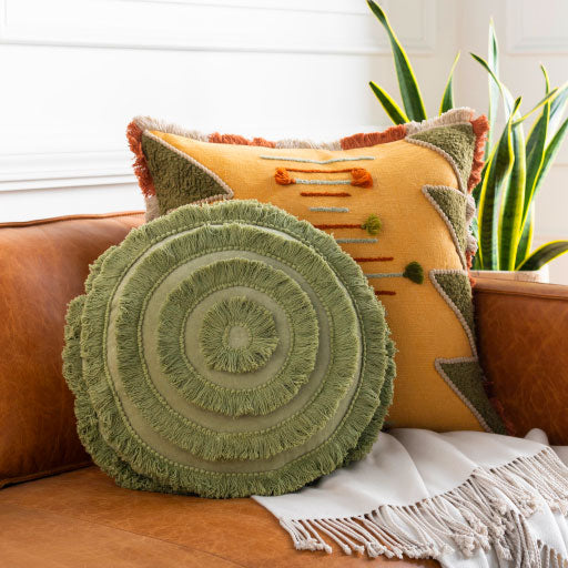 Olive Shag Pillow