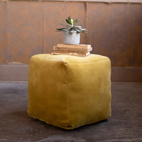Beaded Embroidered Tassel Pouf