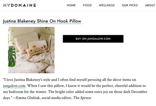 Shine On Hook Pillow by Jungalow®